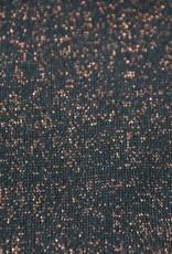 Boordstof zwart/koper lurex