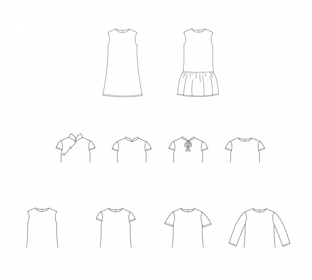 STRAIGHT GRAIN Laure papieren patroon (Nederlands)