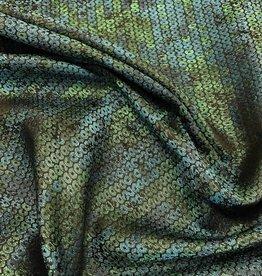RitaCoRita Stevige turquoise stof met paillettenprint