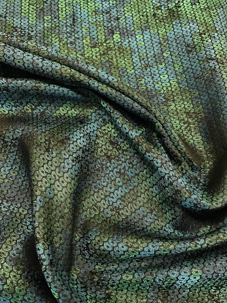 RitaCoRita RitaCoRita - Stevige turquoise stof met paillettenprint