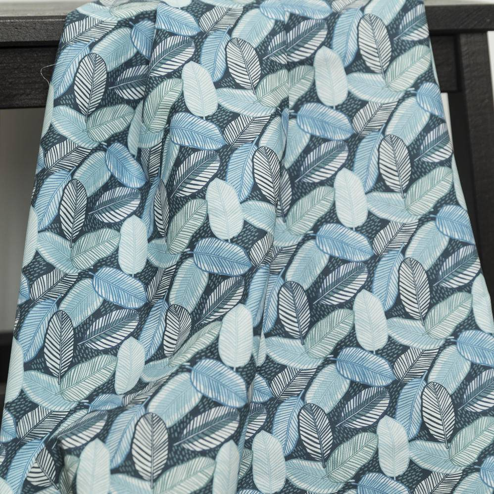 La Maison Victor COUPON 35 cm Viscosestretch leaves blue