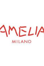AMELIA MILANO Amelia Milano - Crêpe katoen Roze/Rood/Wit met print