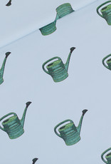 See You at Six - Watering Cans - M - Katoen Gabardine Twill - Mistblauw - R