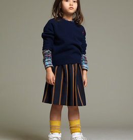 Maankids Maan - Viscose Stripes Blue/Brown