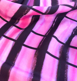 Maankids Maan - Viscose Raster Pink/Brown
