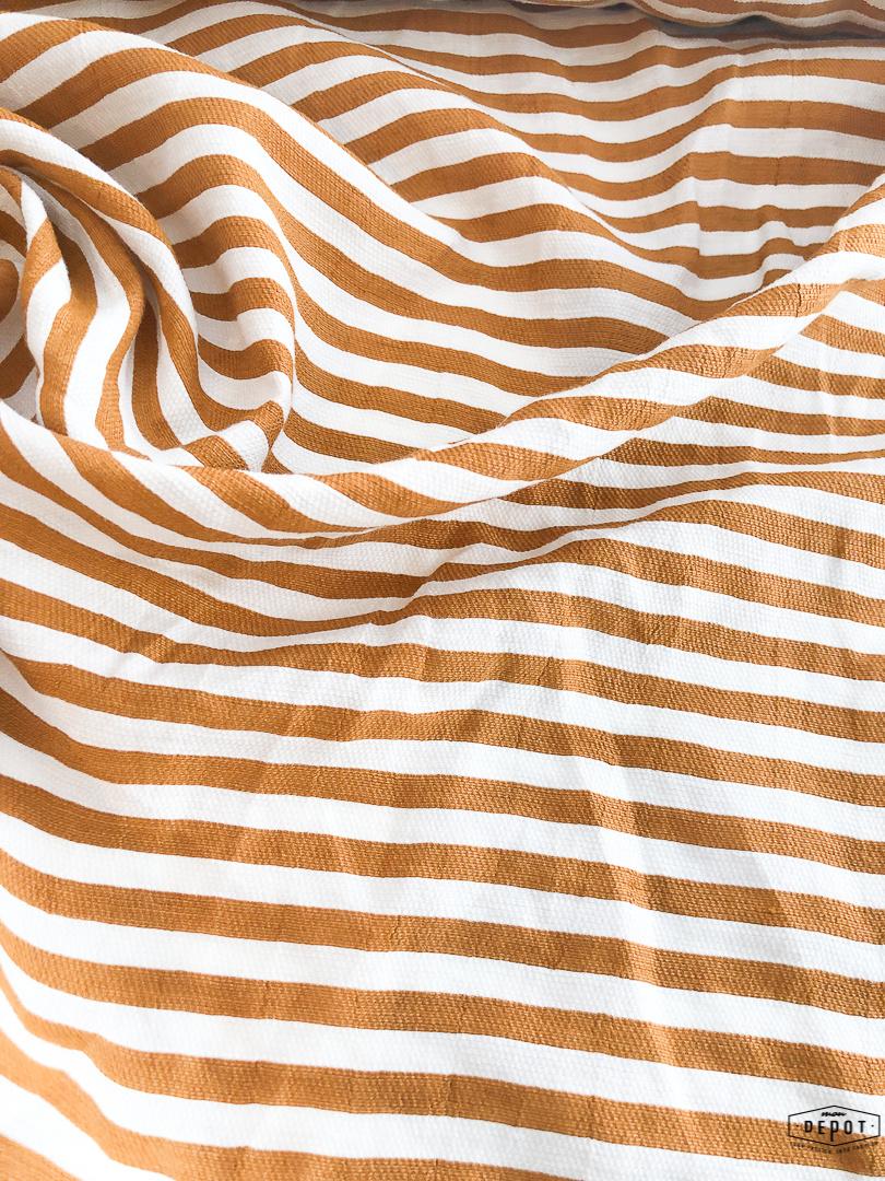 Maankids Maan - Linnen/Viscose Camel Stripes