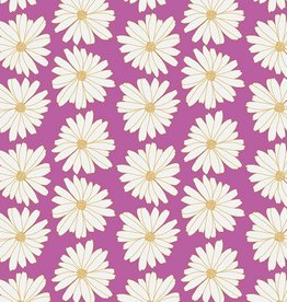 Art Gallery Fabrics Daisies Lilac Scent