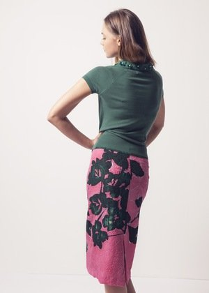 MOOILOOP MOOILOOP - Habutai zijde Fuchsia bloemen Paneel