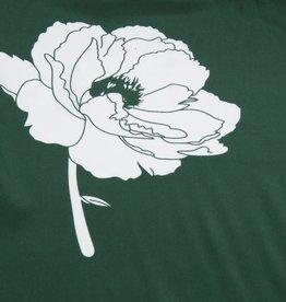 MOOILOOP MOOILOOP Paneel- Crepe Groen met witte bloem (zijde)