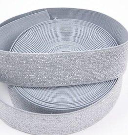 Taille-elastiek zilver