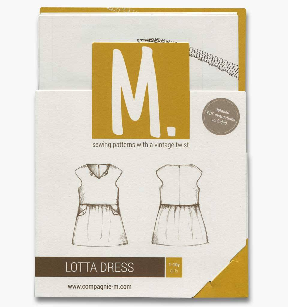 CompagnieM. Patroon Lotta Dress (1-10j) CompagnieM.