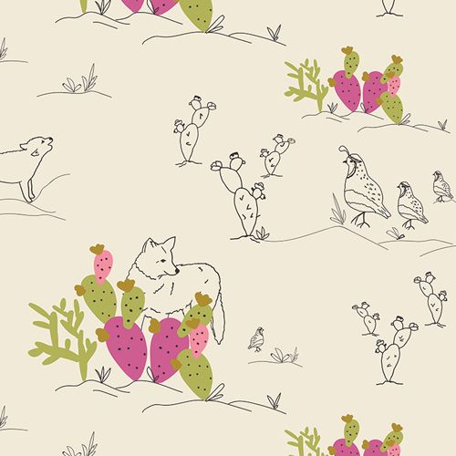 Art Gallery Fabrics Art Gallery Fabrics Coyote & Quail Jojoba