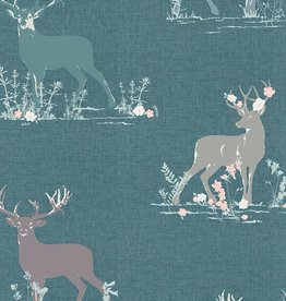 Art Gallery Fabrics Dear Deer Teal