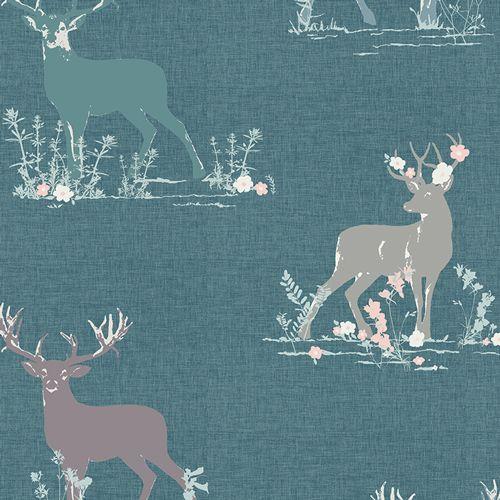 Art Gallery Fabrics Art Gallery Fabrics Dear Deer Teal