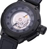 U Boat Classico Zwart Rubber Automatisch horloge 5573