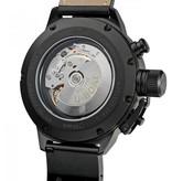 U-Boat U Boat Classico Zwart Carbon Fiber Dial Chrono Black Leather
