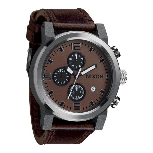 NIXON Ride A315-562 Bruin Zwart Herenhorloge Chronograaf