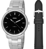 Fossil Fossil FS5451SET The Minimalist inclusief 2 Banden 44 mm 5 ATM
