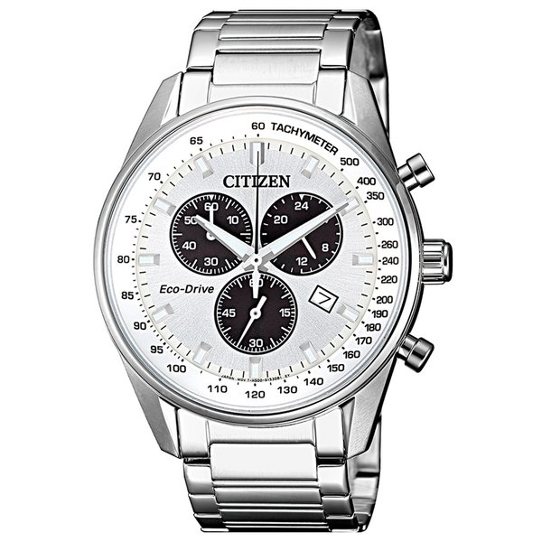 Citizen AT2390-82A Eco-Drive chronograaf 40mm 10ATM