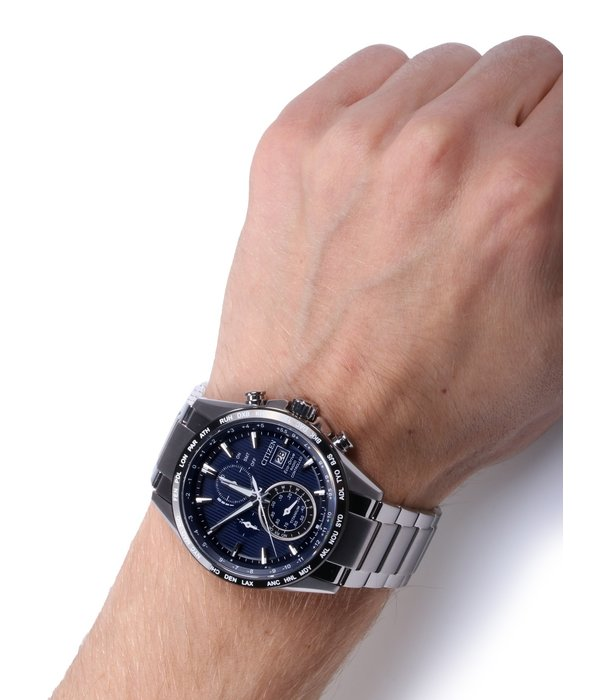 Citizen AT8154-82L Eco Drive Heren Chronograaf 42mm 10ATM