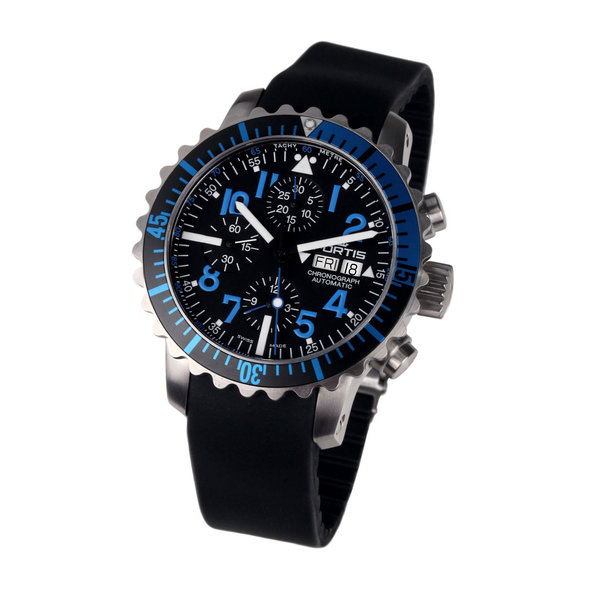 Fortis 671.15.45 K B-42 Marinemaster Blue Chronograaf 42 mm 20 ATM