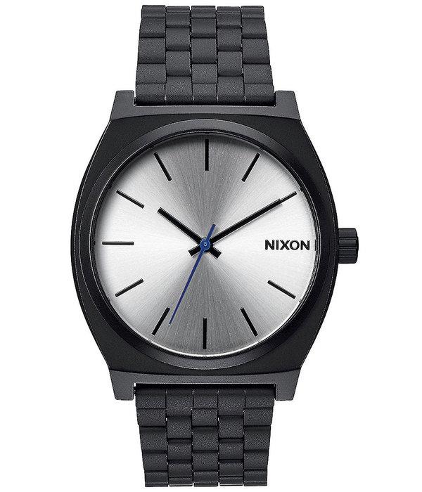 NIXON A045-180 Time Teller Zwart Zilver 37mm 10ATM
