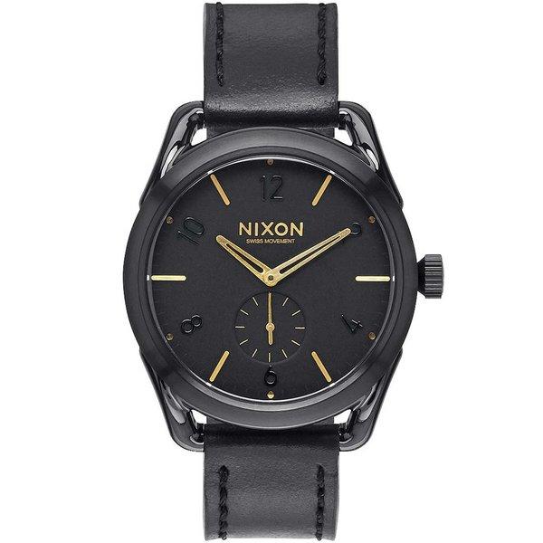 NIXON A459-010 C39 Leder zwart goud 39mm zwart goud 39mm 10ATM