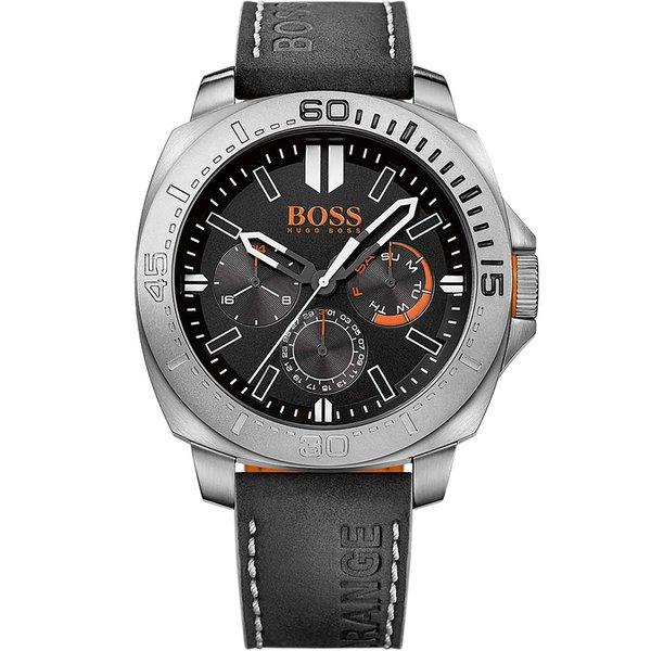 Hugo Boss Orange Sao Paulo horloge HO1513298 - 46 mm - Leer;Leer - Zwart