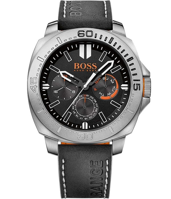 Hugo Boss Orange Sao Paulo horloge HO1513298 - 46 mm - Leer;Leer - Zwart
