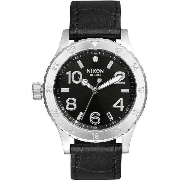 NIXON A467-1886 38-20 Leather Black Gator 38mm 20ATM