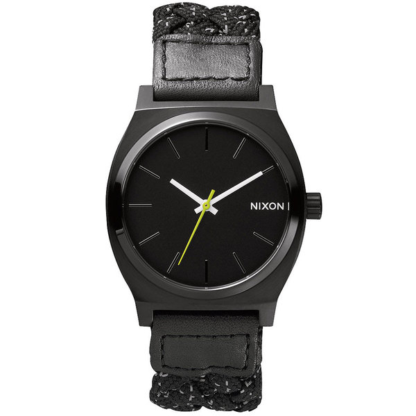 NIXON A045-1941 Time Teller zwart reflecterend geweven 37 mm 10ATM