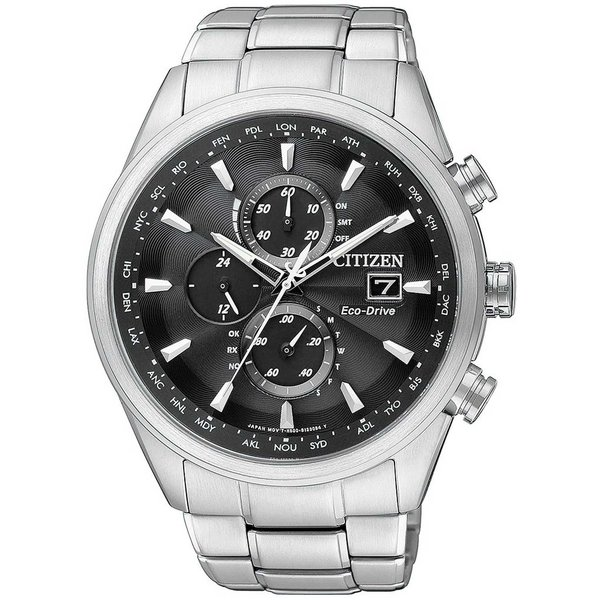 Citizen AT8011-55E Eco-Drive Elegant Funk Heren Saffier 43mm