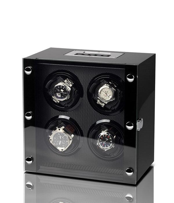 Rothenschild Rothenschild Watchwinder RS-2108-BK voor 4 horloges
