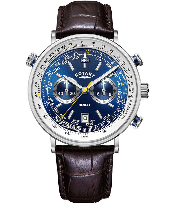 Rotary Rotary GS05235/05 Henley Chronograph Heren 42mm 5ATM