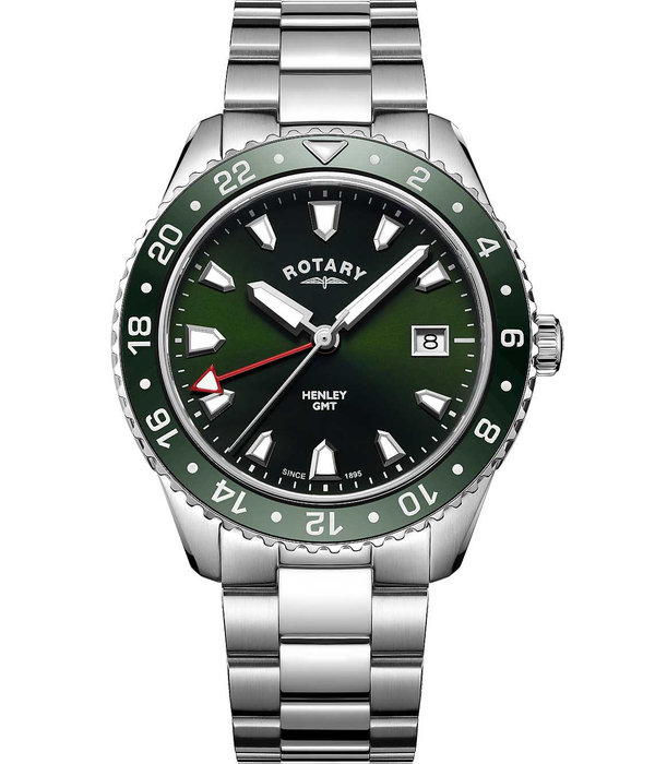 Rotary Rotary GB05108/24 Henley Heren GMT 42mm 10ATM