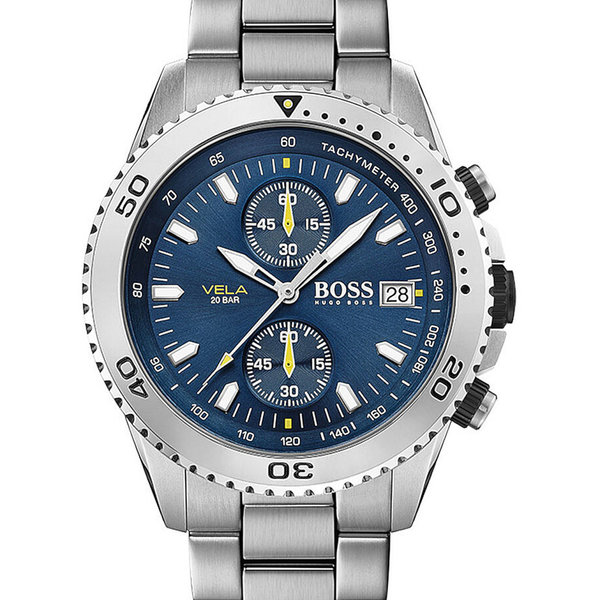 Hugo Boss 1513775 Vela Heren Chronograaf 43mm 20ATM