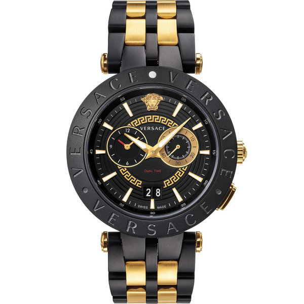 Versace VEBV00619 New New V-Race Chronograaf Heren 46mm 5ATM