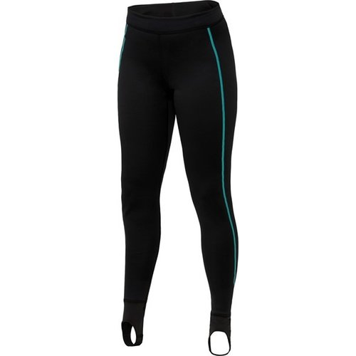 Bare Ultrawarmth Base Layer Broek Black/Aqua Women