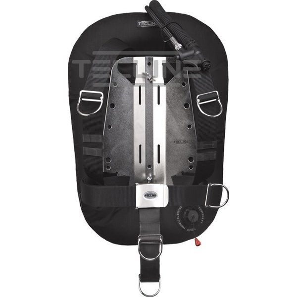 Tecline Donut 15 with adjustable DIR harness,built in mono adapter, weight pocket, tank belts & BP