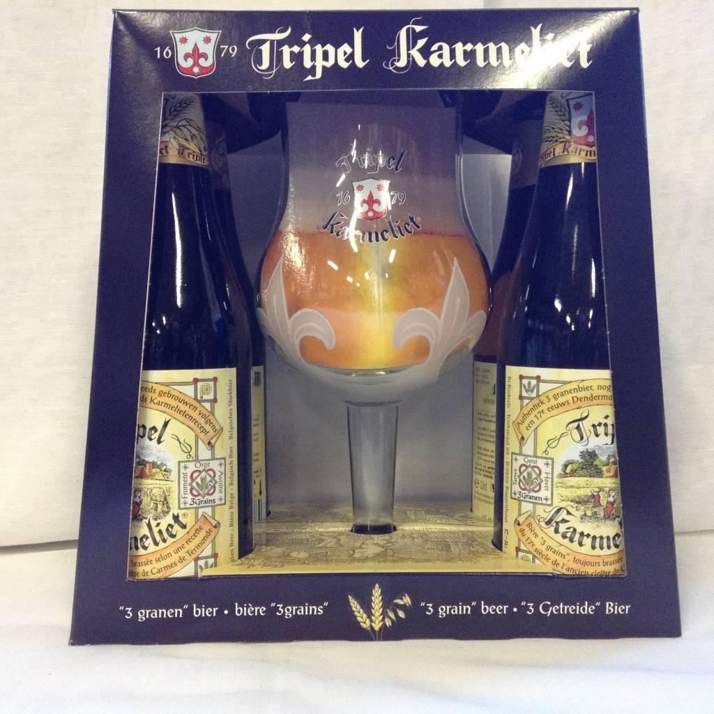 KARMELIET GESCHENK 4X33 CL + GLAS