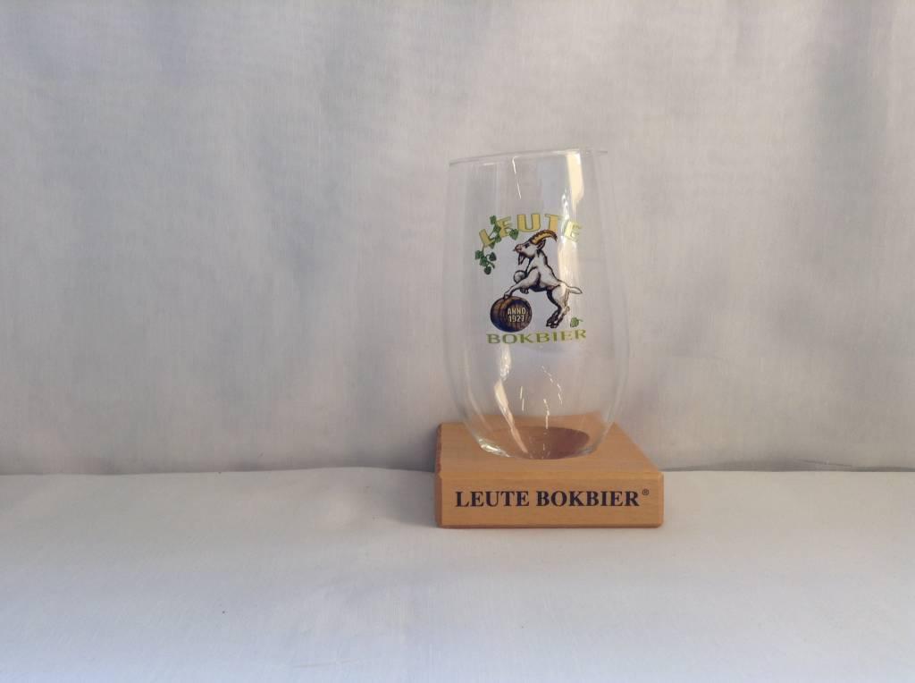 LEUTEBOK GLAS+ONDERZETTER