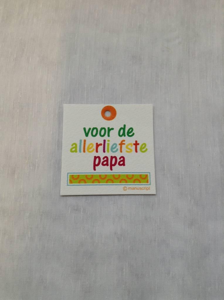 DANKKAARTJE ALLERLIEFSTE PAPA