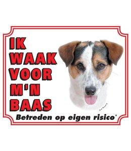 Stickerkoning Jack Russell Terrier Waakbord - Gladhaar