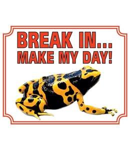 Stickerkoning Gifkikker Waakbord - Break in make my day