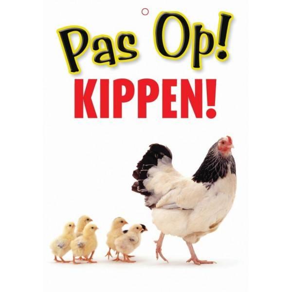 Kippen Waakbord - Pas Op