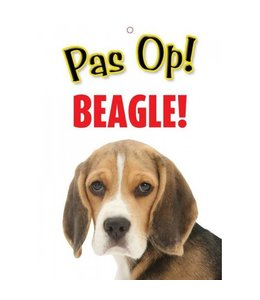 Otterhouse Beagle Waakbord - Pas Op