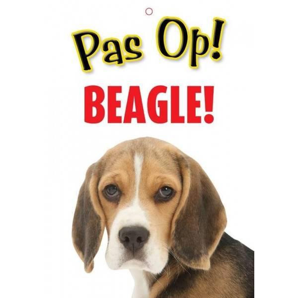 Beagle Waakbord - Pas Op