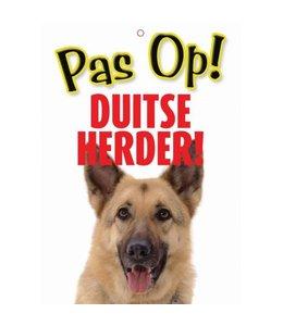 Otterhouse Duitse Herder Waakbord - Pas Op