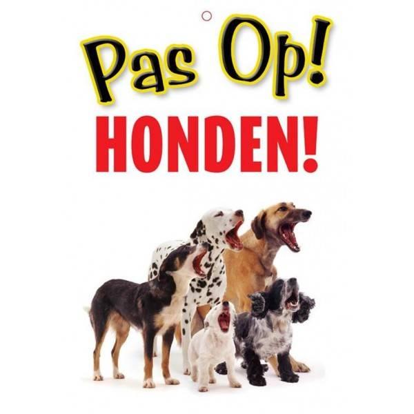 Pas op Honden Waakbord