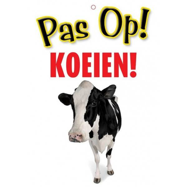 Koeien Waakbord - Pas Op